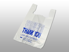 """Thank You"" Pre-printed T-Shirt Bags"