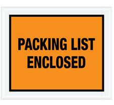 Packing List Envelopes - Close Out