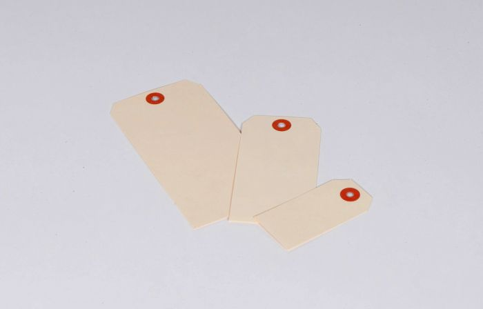 "#11 7 1/4 x 3 5/8"" 15 Pt. Jumbo Manila Shipping Tags - Unwired (500/case)"