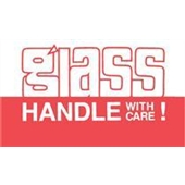 "#DL1170  3 x 5""   Glass Handle with Care Label"
