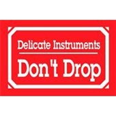 "#DL1350  3 x 5""  Delicate Instruments Don`t Drop Label"
