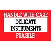 "#DL1460  3 x 5""  Delicate Instruments Handle with Care Fragile Label"
