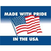 "#DL1660  3 x 4""  Made with Pride In the USA Label"