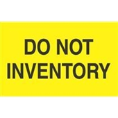 "#DL2281  3 x 5""  Do Not Inventory Label"