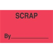 "#DL3361  3 x 5""  Scrap By  _____ Label"