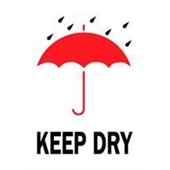 "#DL4180  3 x 4""  Keep Dry ( Umbrella/Rain) Label"