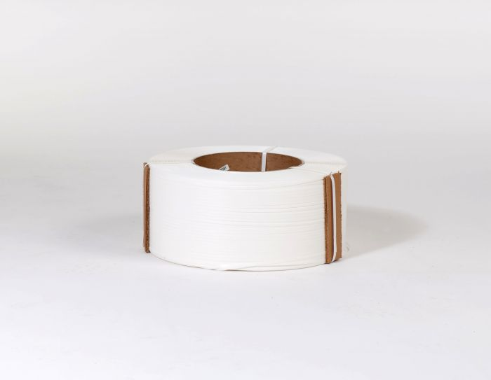 "1/2"" x 9,900` .023 300# 9 x 8 White Machine Grade Poly Strapping"