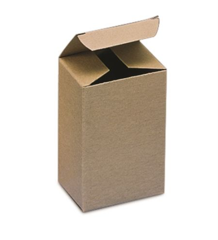"4 5/8 x 2 3/8 x 7 5/16"" Kraft Reverse Tuck Folding Carton (250/case)"