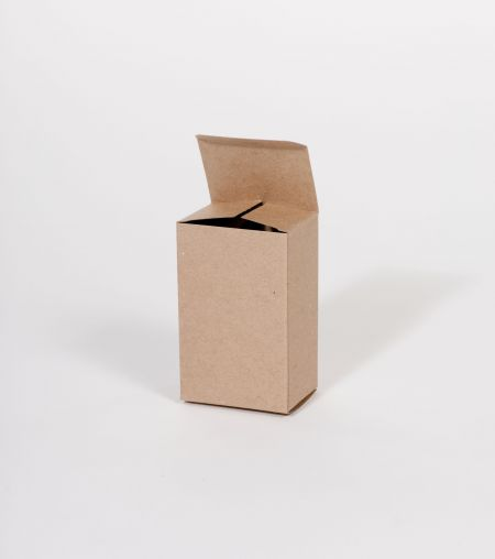 "3 1/2 x 1 1/4 x 3 1/2"" Kraft Reverse Tuck Folding Carton (500/case)"