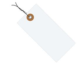 "#2 3 1/4"" x 1 5/8"" Tyvek® Shipping Tags - Pre-wired (1000/case)"
