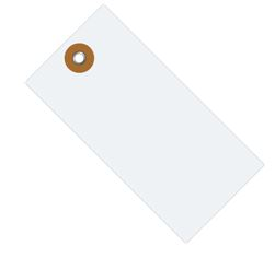 "#4 4 1/4"" x 2 1/8"" Tyvek® Shipping Tags - Unwired (1000/case)"