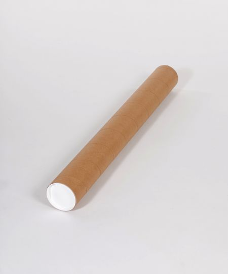 "4 x 60"" Heavy-Duty Kraft Tube (12/Case)"