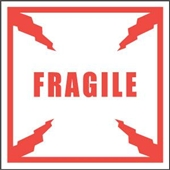 "#DL1010  4 x 4""  Fragile Label"