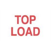 "#DL1210  3 x 5""  Top Load  Label (Red/White)"