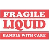 "#DL1300  3 x 5""  Fragile Liquid Handle with Care Label"