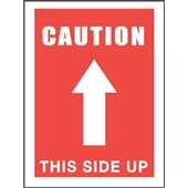 "#DL1491 3 x 5""  Caution This Side Up (Arrow) Label"