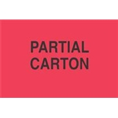 "#DL1760  3 x 5""  Partial Carton Label"