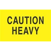 "#DL2101  3 x 5""  Caution Heavy Label"