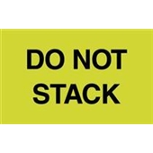 "#DL2241  3 x 5""  Do Not  Stack Label"