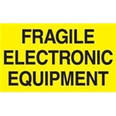 "#DL2441  3 x 5""  Fragile Electronic Equipment Label"