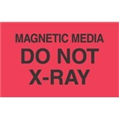 "#DL2461  3 x 5""  Magnetic Media Do Not  X-RAY  Label"