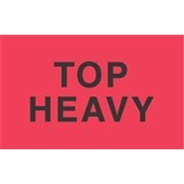 "#DL2721  3 x 5""  Top Heavy  Label"