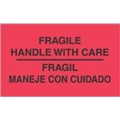 "#DL3011  3 x 5""  Fragil Maneje Con Cuidado - Bilingual Label"