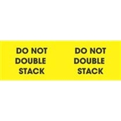 "#DL3101  3 x 10""  Do Not Double Stack (Yellow/Black) Label"