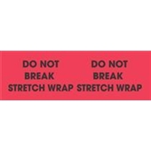 "#DL3111  3 x 10""  Do Not Break Stretch Wrap (Flourescent Red/Black) Label"