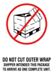 "#DL3183  4 x 6""  Do Not Cut Outer Wrap (White/Red/Black) Label"