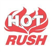 "#DL3193  4 x 4"" Hot Rush (Flames) Label"