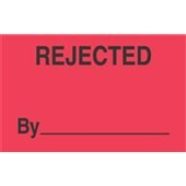 "#DL3321  3 x 5""  Rejected By  _____ Label"