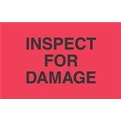 "#DL3461  3 x 5""  Inspect  For Damage Label"