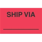 "#DL3541  3 x 5""  Ship Via  _____ Label"