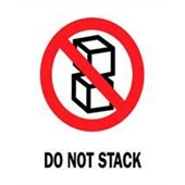 "#DL4080  3 x 4""  Do Not Stack (Boxes) Label"