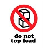 "#DL4140  3 x 4""  Do Not Top Load Label"