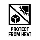 "#DL4400  3 x 4""  Protect from Heat (Sun/Box) Label"