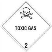 """#DL5110  4 x 4""""  Toxic Gas - Hazard Class 2 Label"""