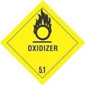 """#DL5160  4 x 4""""  Oxidizer - Hazard Class 5 Label"""