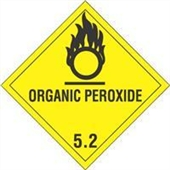 "#DL5170  4 x 4""  Organic Peroxide - Hazard Class 5 Label"