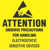 "#DL9080  2 x 2 ""  Attention Observe Precautions for Handling Label"