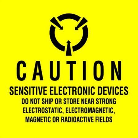 """#DL9100  4 x 4""""  Sensitive Electronic Devices Label"""
