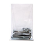 "3 x 8"" 4 Mil Heavy-Duty Flat Poly Bag (1000/Case)"
