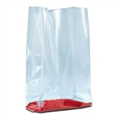 "5 1/4 x 2 1/4 x 12"" 1 1/2 Mil Gusseted Poly Bags (1000/Case)"