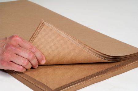 "18"" x 300` 60# Indented Kraft Paper Rolls"
