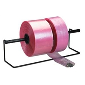 "24"" X 500` 6 Mil Pink Heavy-Duty Anti-Static Poly Tubing"