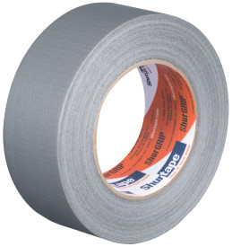 "2"" x 60 yds. (48mm x 55m) 6 Mil Silver Cloth Duct Tape (24/Case)"