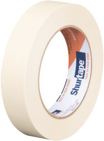 "1"" x 60 yds. (24mm x 55m) 4.6 Mil General Purpose Masking Tape (36/Case)"