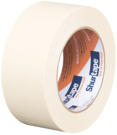 "3"" x 60 yds. (72mm x 55m) 4.6 Mil Medium Grade Masking Tape (16/Case)"